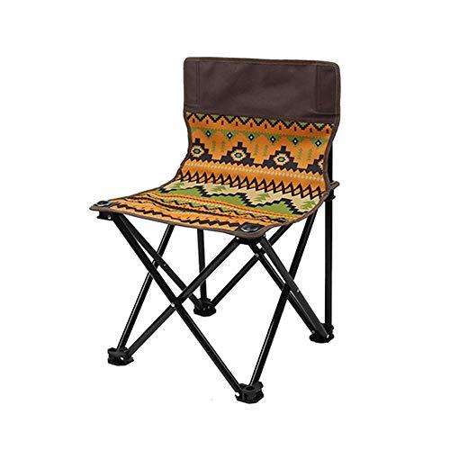 YIONGA CAIJINJIN Folding Camp Stuhl Außen Klappstuhl beweglicher Rückenlehne Hocker Stuhl Erholungs Stuhl Stuhl Strand-Kunst-Sketch Director Chair Draussen