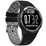 Anmino ASM6C GPS Smart Watch for Android and iOS Phones with 1.3 Inch IPS Round Touch Screen, All-Day Heart Rate and Activity Tracker, Blood Pressure Monitor, IP67 Waterproof Bluetooth Smartwatch
