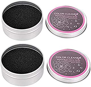 SODIAL 2 Pack Cleaner Sponge,Dry Makeup Brushes Cleaner Eye Shadow or Blush Color Removal Quickly Switch To Next Color