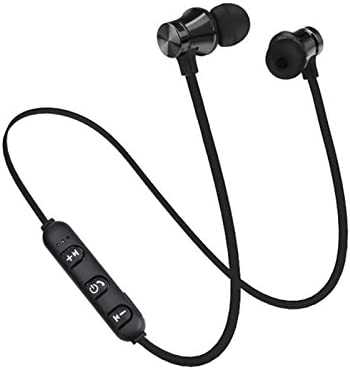 AlexGT S8 Wireless Magnetic Bluetooth Earphone Wireless Sports Headphones Stereo Bass Music Earpieces with Mic Headset A