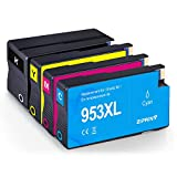 ZIPRINT 4 Multipack Compatible HP 953XL Cartucho para HP OfficeJet 8702 AIO Pro 8210 8211 8218 AIO Pro 8710 8715 8716 8717 8718 8720 8721 8725 8728 8730 8731 8740 AIO 7720 7730WF AIO Impresora