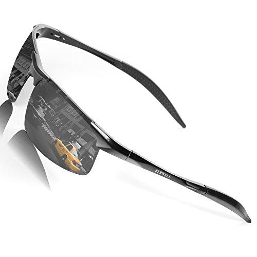 Men's Polarized Sunglasses Sports Driving Sunglasses for Men Al-Mg Metal Frame Ultra...