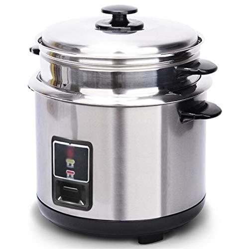 Edelstahl-Reiskocher, altmodischer Suppentopf aus altmodischer Suppentopf Verdickter externer Stahldämpfer-Reiskocher kann in Küchen, Hotels, Restaurants, Speichern von Zeit und Bemühungen 3L, 4L, 5L,