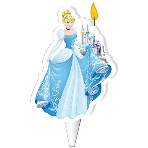 Disney Aschenputtel Geburtstagskuchenkerze, 7,5 cm, Dekora W505