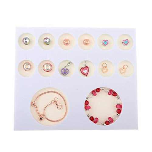 Milageto Kit de Fabricación de Pulseras con Dijes de Bricolaje Suministros de Fabricación de Joyas Regalos de Mujeres