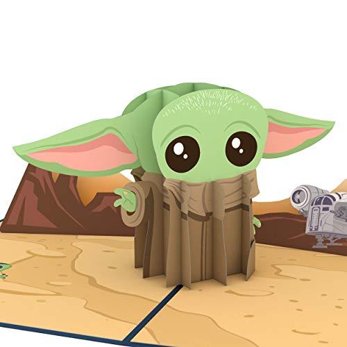 Lovepop Star Wars The Mandalorian The Child Pop Up Card - 3D Card, Star Wars Birthday Card, Anniversary Pop Up Card, Baby Yoda Like Creature, Yoda Birthday Card, Card for Wife, Card for Husband