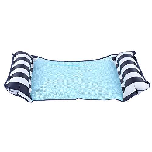 Wakects Sillón reclinable Flotante de Playa, Cama Flotante Plegable de Doble Uso, Silla de Cubierta de Agua, sofá, Hamaca con