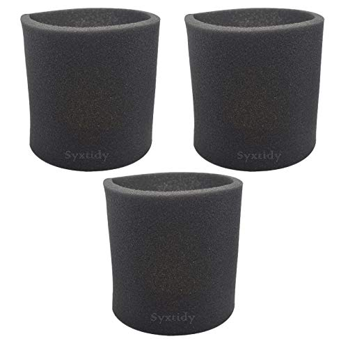 3 Pack 90585 Foam Sleeve VF2001 Foam Replacement Filter For Wet Dry Vacuum Cleaner, Fits Most Shop-Vac, Vacmaster & Genie Shop Vacuum Cleaners, Replace Part # 9058500