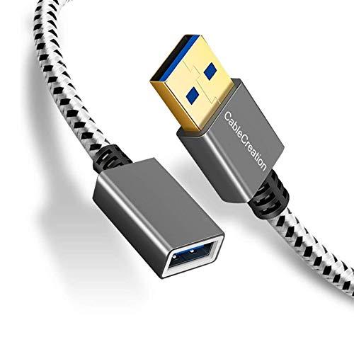 USB 3.0延長ケーブル,CableCreation 【2本セット】Type A オス メス リピーター延長ケーブル 超高速USB 3.0延長コード Oculus VR、Oculus Rift、プレイステーション(Playstation)、VRヘッドセッ