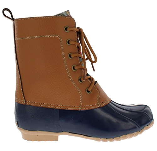 sporto Women's Nancy Duck Boot,TAN/Navy,9
