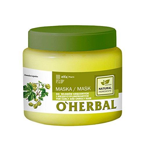 O'Herbal Mascarilla Pelo/Cabello Rizado Y Rebelde Profesional Natural...
