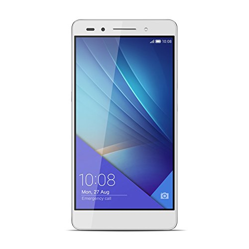 "Honor 7 - Smartphone libre de 5.2"" (4G, WiFi, Bluetooth, Dual Nano SIM, HiSilicon Kirin 935, 64 bit Super 8+1 Core, 2.2 GHz, 3 GB de RAM, 16 GB ROM, cámara de 20 MP/8 MP, Android 5.0), color negro"