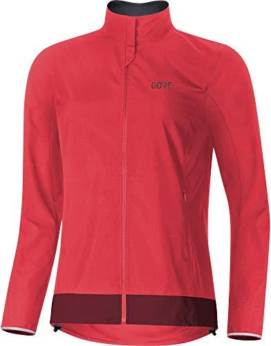 Gore Wear Damen Winddichte Fahrradjacke, C3 Women GORE WINDSTOPPER Classic Jacket, 42, Pink/Bordeaux, 100276