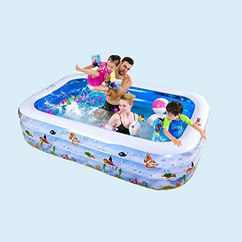 Opblaasbaar zwembad voor volwassenen, 70.8 * 55 * 23.6in Opblaasbaar zwembad met pomp, voor buiten, tuin, achtertuin, zomerwaterfeest