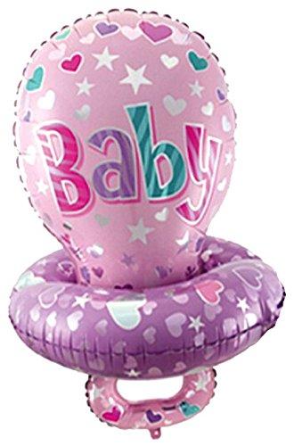 Mondial-fete - Ballon Alu. Tétine Baby Rose (60 x 45 cm)