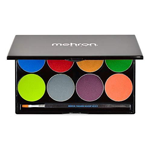 mehron Paradise Makeup AQ - 8 Color Palette - Tropical