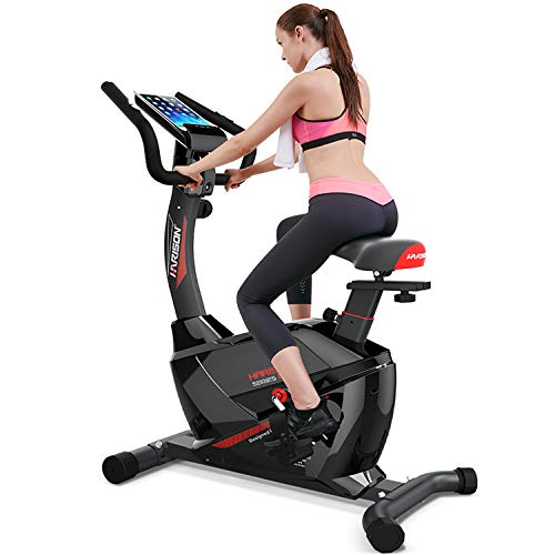 HARISON Indoor Exercise Bike Stationary with Magnetic Resistance Upright Bike for Home Office Cardio Workout Bike Training With LCD Display