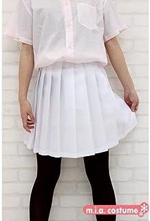 無地プリーツスカート単品 色:無地白 サイズ:M