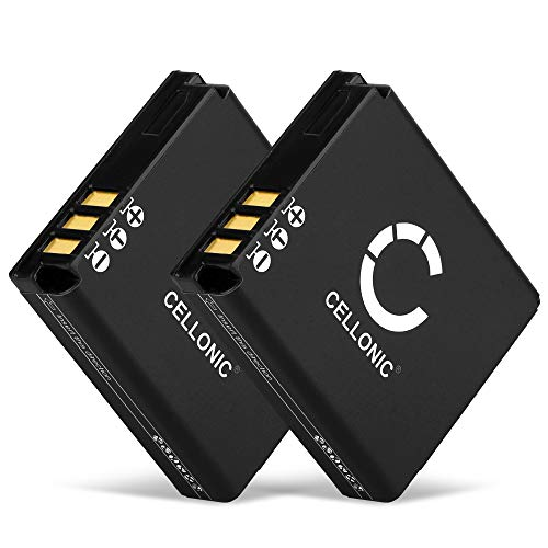 CELLONIC 2X Batería Compatible con Panasonic Lumix DMC-LX3 -LX2 -LX1 -LX9 DMC-FX01 -FX07 -FX3 -FX8 -FX9 -FX10 -FX12 -FX50 -FX100 -FX150 -FX180 DMC-FS2 -FS1 1150mAh CGA-S005 DMW-BCC12 Pila Repuesto