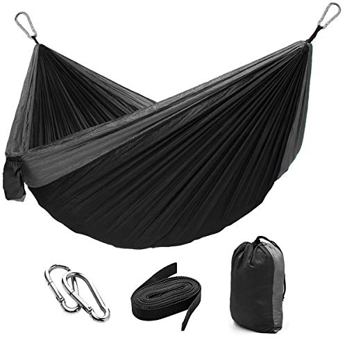 Camping Double amp Single Portable Hammock|Parachute Nylon|Hammock Backpacking for Indoor Outdoor Backpacking Beach Travel Yard Hiking and Garden