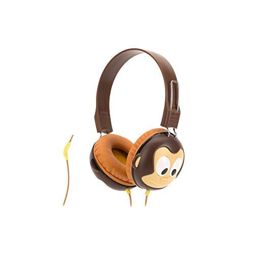 Griffin Volume-Limiting Monkey Kazoo MyPhones Headphones - Over The Ear Headphones for Kids