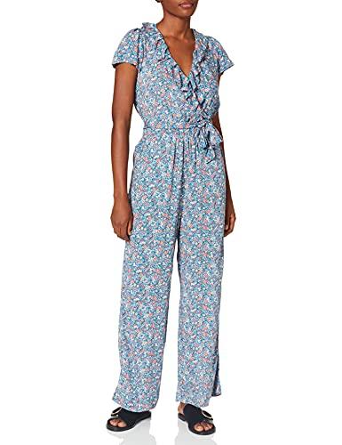 Springfield Mono Flores Pantalones, Azules, 38 para Mujer