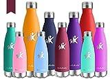 KollyKolla Gourde Inox Isotherme - 500ml, Bouteille d'eau Acier Inoxydable à Double Paroi Reutilisable Gourdes Sans BPA Etanche...