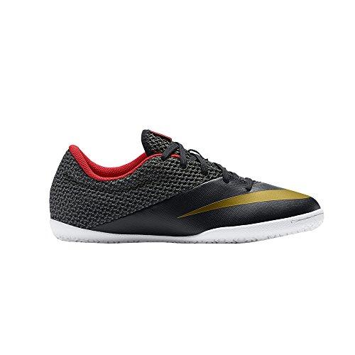 Nike JR Mercurialx Pro IC, Botas de fútbol para Niños, Negro/Amarillo/Rojo/Blanco (Blk/Mtllc Gld-Chllng Rd-White-), 35 1/2 EU