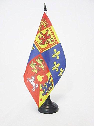 AZ FLAG TISCHFLAGGE DAS KÖNIGLICHE VEREINIGTE KÖNIGREICH 1714-1801 Haus VON Hannover 21x14cm - BRITISCHE TISCHFAHNE 14 x 21 cm - flaggen