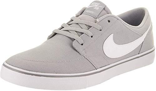 Nike SB Portmore II Solar CNVS Mens Skateboarding-Shoes 880268-011_7.5 - Wolf Grey/White-Black