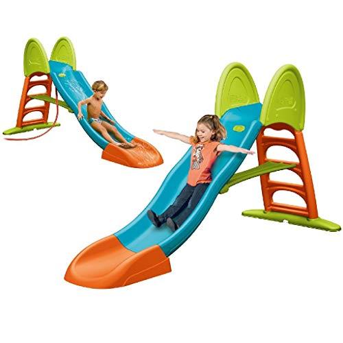 FEBER - Super Mega Slide mit Wasser, Kinderrutsche Wasseranschluss (Famosa 800009594)