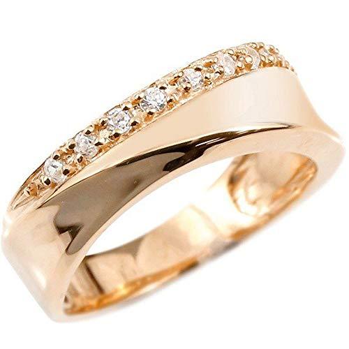 [アトラス] Atrus リング レディース 10金 ピンクゴールドk10 キュービックジルコニア ピンキーリング 指輪 22号