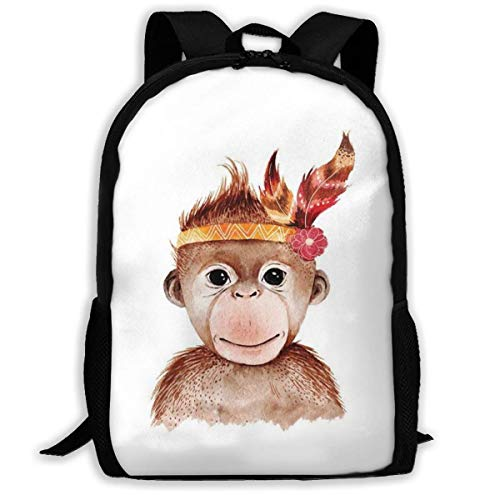 Monkey Lovely Animal Print Adulto Mochila Laptop para Adultos, niños Mayores
