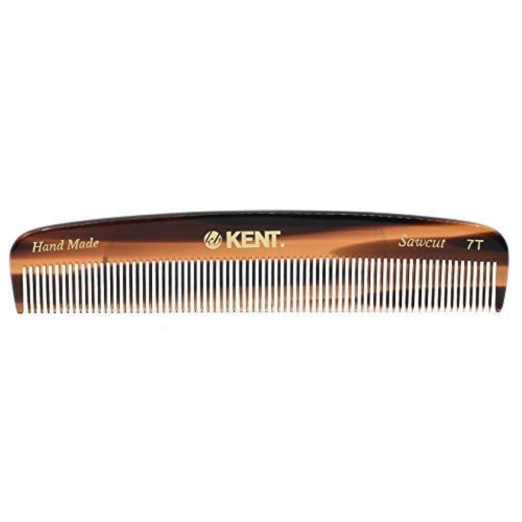 疎外グローバル正統派Kent 7T - Handmade Fine Teeth Pocket Comb for Men and Women - Cellulose Acetate, Tortoise Shell (5 1/2