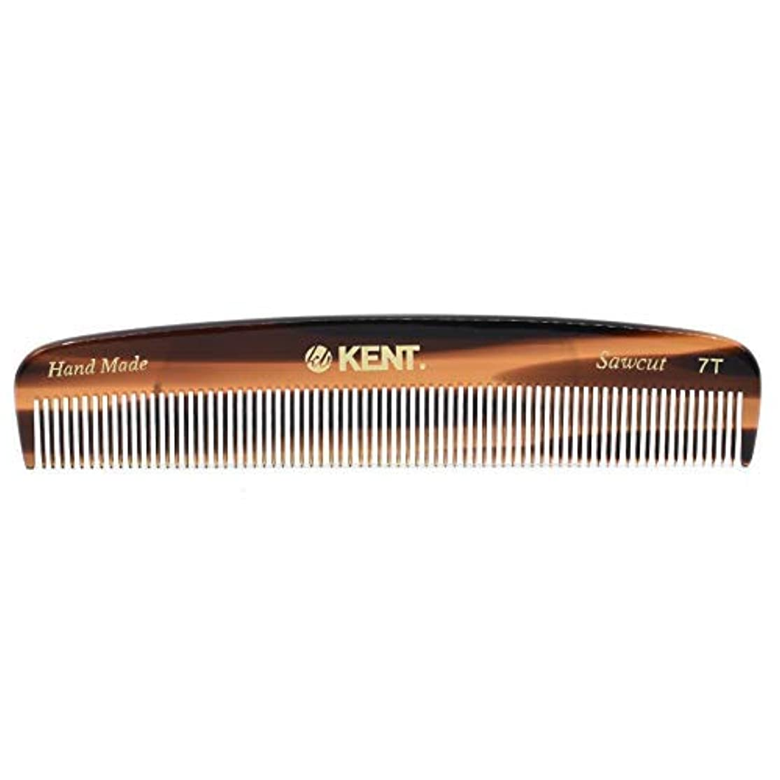グラフ競合他社選手滝Kent 7T - Handmade Fine Teeth Pocket Comb for Men and Women - Cellulose Acetate, Tortoise Shell (5 1/2