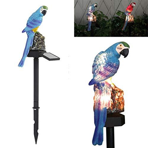 Lámpara solar de jardín, lámpara de jardín, lámpara solar, lámpara de jardín, de resina, impermeable, ahorro de energía LED, lámpara solar para exterior, terraza, césped, jardín y caminos, color azul