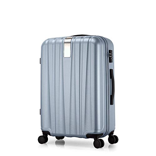 SFBBBO luggage suitcase Best Spinner Luggage Suitcase Trolley Case Travel Bag Rolling Wheel Carry-On Boarding Men Women Luggage Trip Journey 22' SilverGray