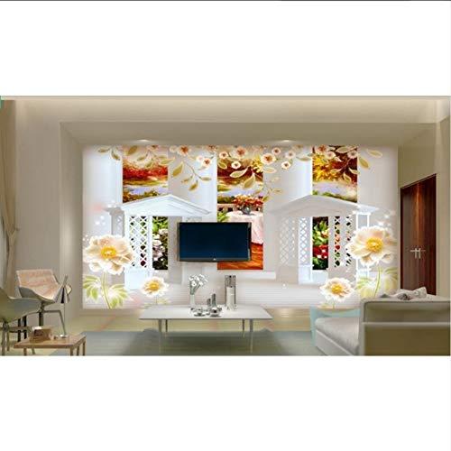 Wallpaper 3D werbung Europäische römische spalte 3d wandbild tapete pavillon ölgemälde hintergrundbild für wohnzimmer schlafzimmer-350X250CM