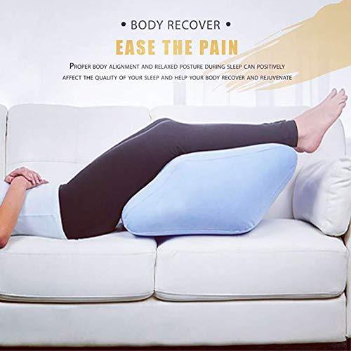 Anewu Aufblasbares Beinkissen, Venenkissen Tragbares PVC Kniekissen Vielseitiges Beinkissen Entspannungs Kissen Für die Beine