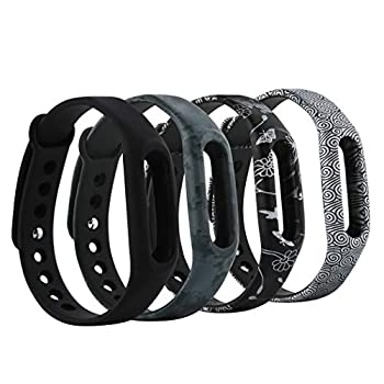Tkasing Replacement Bands for XiaoMi XiaoMi Band Strap 1 1S Bracelet Replacement Wristband Smart Band Accessories for Pokemon Go Go-tcha No Tracker   Design3A
