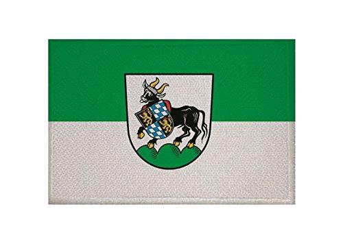 U24 Aufnäher Auerbach in der Oberpfalz Fahne Flagge Aufbügler Patch 9 x 6 cm