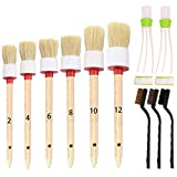 SUBANG 11 Pieces Car Cleaner Brush SetIncluding Natural Boar Hair Detail Brush