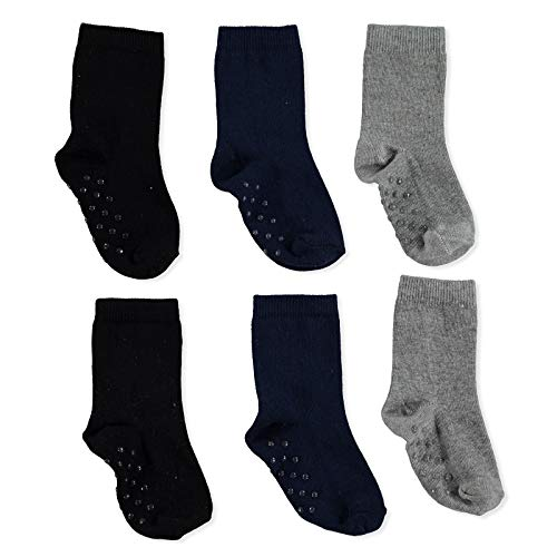 ebebek HelloBaby - 3 pares de calcetines antideslizantes de algodón para niño niña de 1 a 4 años