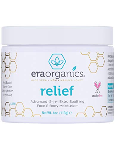 Psoriasis & Eczema Cream 4oz Advanced Healing Non-Greasy Moisturizer with Organic Aloe Vera, Manuka Honey, Hemp Oil & More. Natural Moisturizer for Dermatitis, Rosacea, Shingles, Dry, Itchy Skin