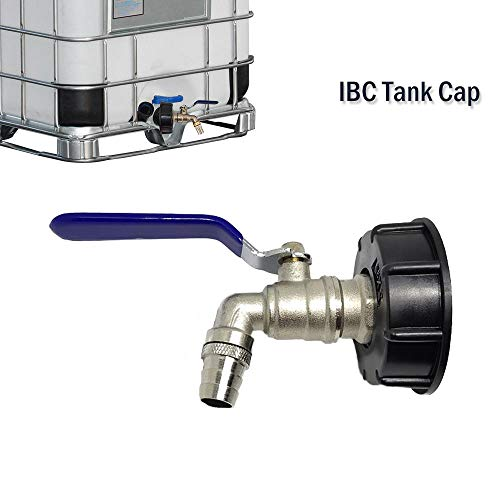 IBC Tank Adapter MASO IBC TOTE TANK DRAIN ADAPTER S60X6 To Brass Garden Tap With 3/4' Hose Fitting Oil Fuel Water