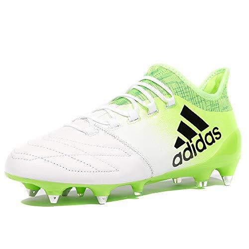 adidas X 16.1 SG Fußballschuhe BB2126 Leder weiß grün NEU & OVP Gr. 41 1/3