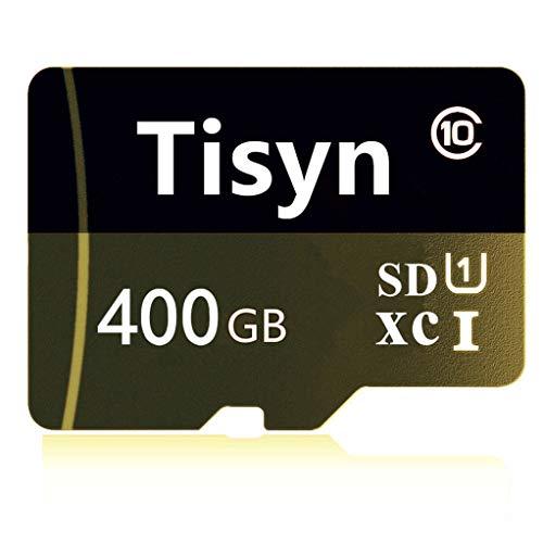 Tisyn 400GB Micro Speicherkarte, SD Karte 400GB Class 10 Speicherkarte + SD Adapter (L2F-Y5) (400GB)