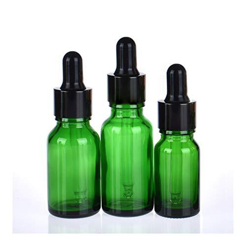 CHENHUA Mini Bomba de plástico vacío 20pcs 5ml-100ml Botellas vacías de Vidrio ámbar cuentagotas Esencial de aromaterapia Verde Gota del Aceite de la Botella de líquido reactivo Pipetear Recargable