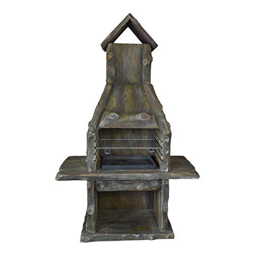 Grillkamin Rusty Wood - dekorativ, langlebig - Gartengrill, Kamingrill