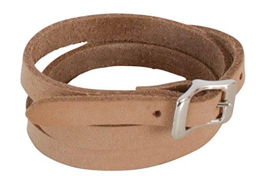 Gusti Leder Studio Armband 67 cm Dean Armreif Lederarmband Lederschmuck Echt Leder Büffelleder Modeschmuck Unisex Hellbraun Beige 2A100-26-55